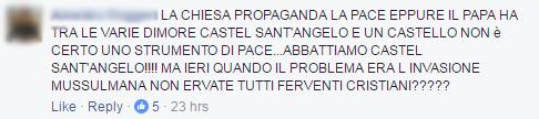 fasciogentismo muro vaticano papa trump