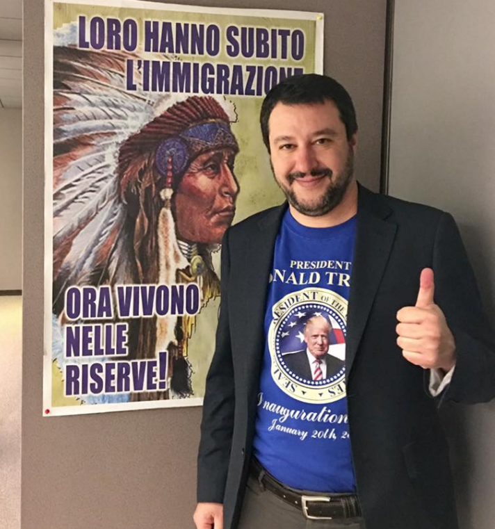 matteo salvini indiani donald trump