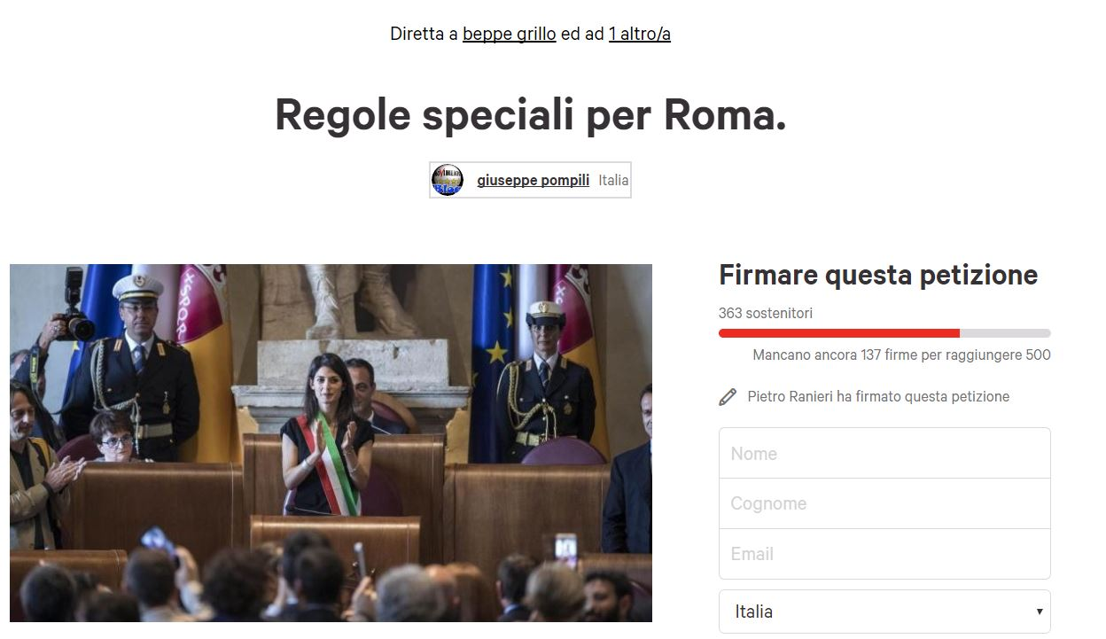 regole speciali per roma
