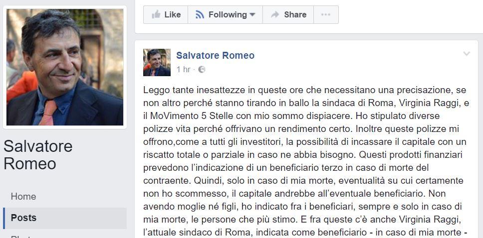 salvatore romeo polizza vita 1