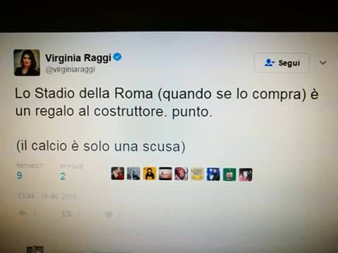virginia raggi stadio roma 1