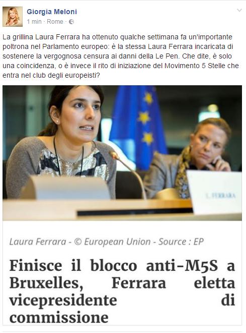 Giorgia Meloni immunità Marine Le Pen