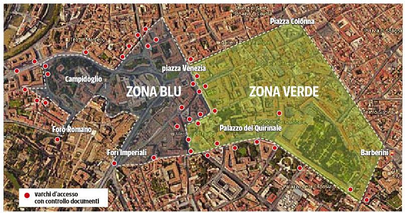 emergenza sicurezza zona blu zona verde