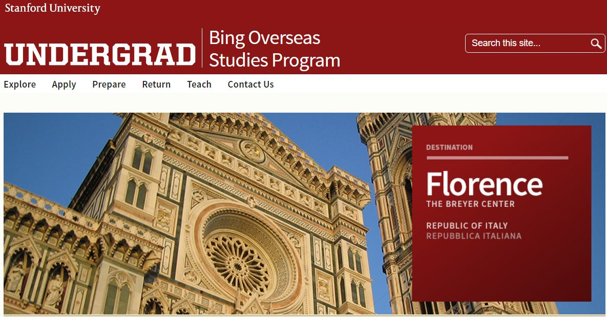 matteo renzi professore stanford university