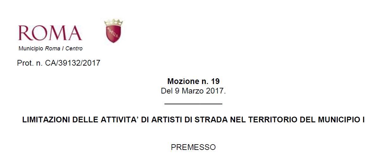 mozione anti artisti di strada roma municipio 1 - 4