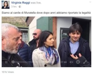virginia raggi canile muratella