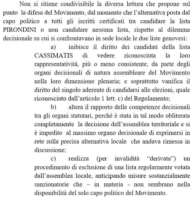 M5s: candidato Padova pensa a ricorso