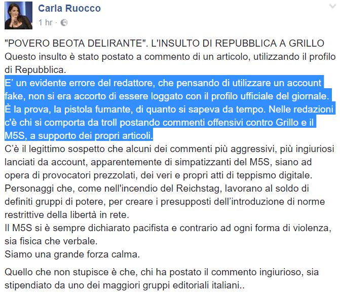 Grillo, attacco ai giornalisti
