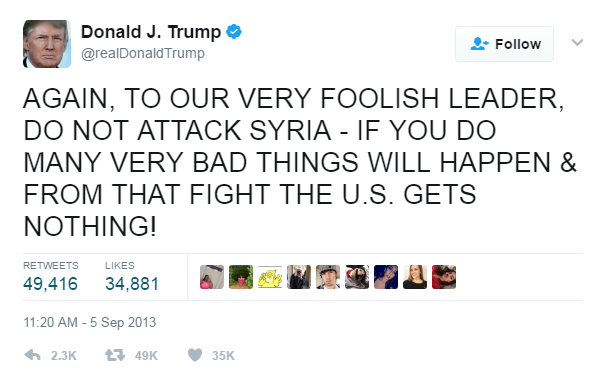 donald trump siria assad putin
