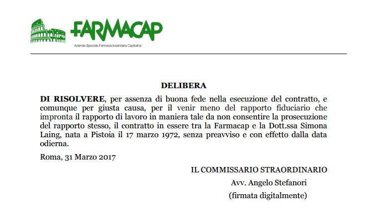 farmacap stefanoir laing licenziamento - 1