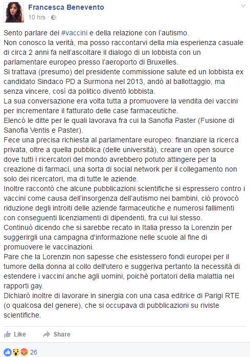 francesca benevento vaccini - 1