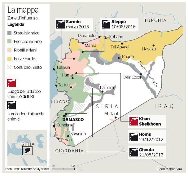 gas siria attacco chimico Khan Sheikhum 1