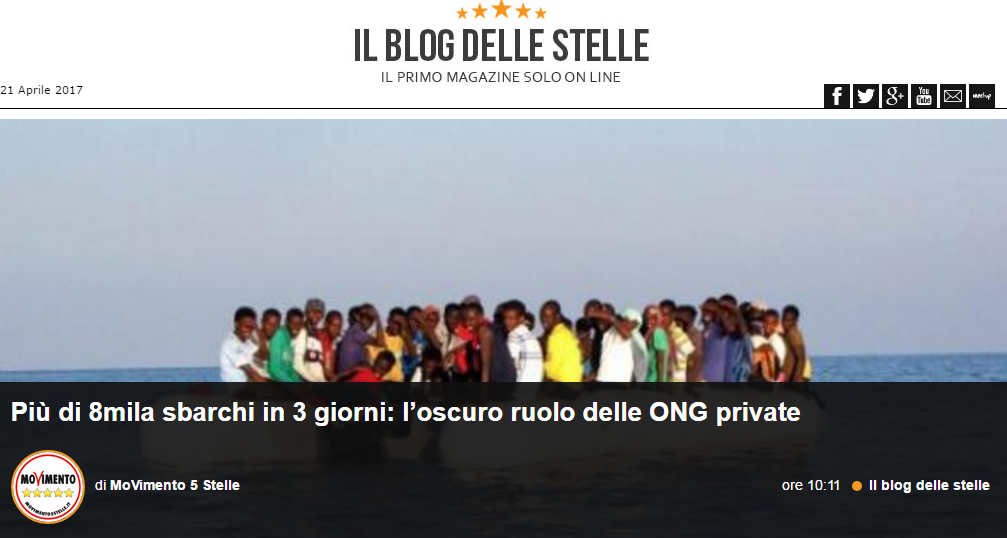 grillo migranti ong business - 1