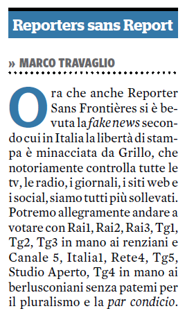 marco travaglio classifica reporter sans frontieres 2017 - 1