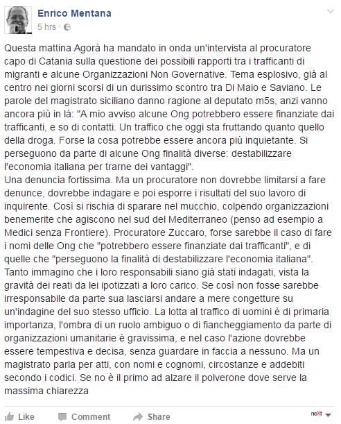migranti ong zuccaro catania procura agorà mentana - 1