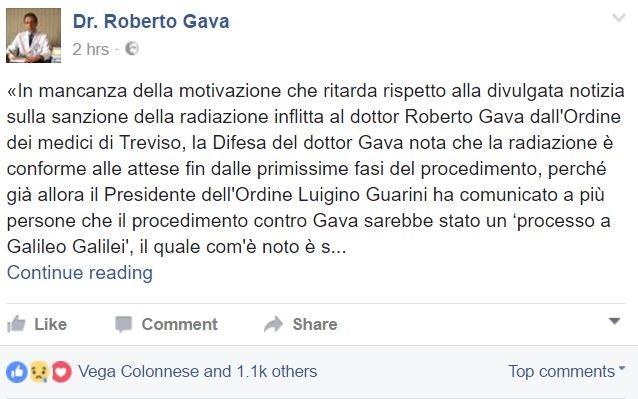 Vaccini: Burioni, grazie a Ordine Medici Treviso, oggi Italia tra Paesi civili