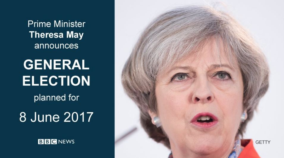 Theresa May dichiara elezioni generali anticipate