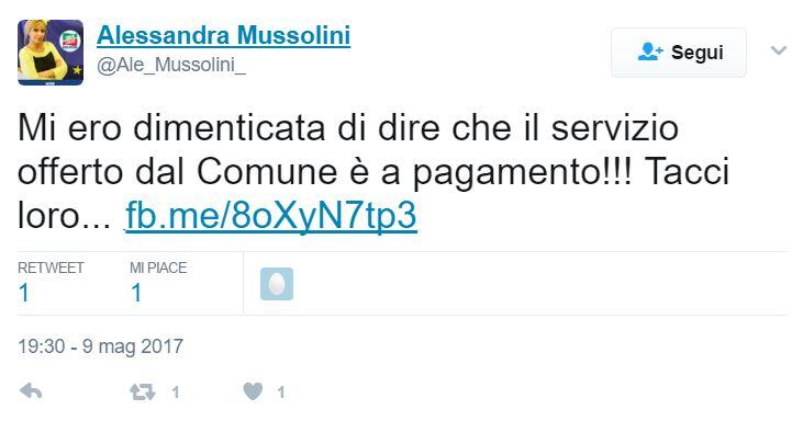 Alessandra Mussolini, il Comune di Roma chiede di cambiare il Cognome