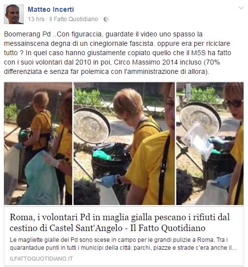 carla ruocco complotto magliette gialle roma immondizia - 5