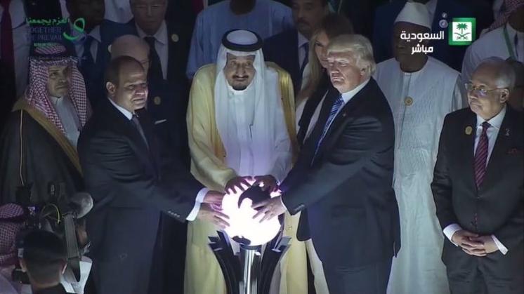 donald trump sfera luminosa arabia saudita - 1