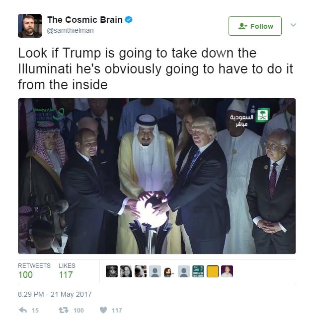 donald trump sfera luminosa arabia saudita - 4