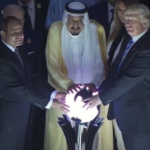 donald trump sfera luminosa arabia saudita - 5