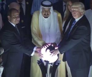 donald trump sfera luminosa arabia saudita - 5