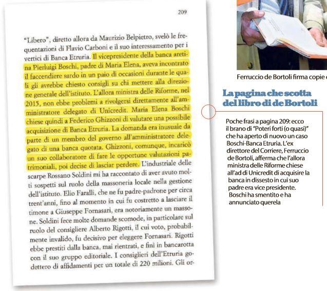 Etruria, Renzi contro De Bortoli