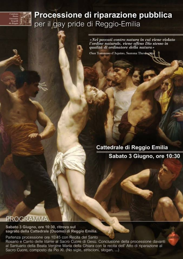 gay pride reggio emilia 2017 processione cattolici - 1