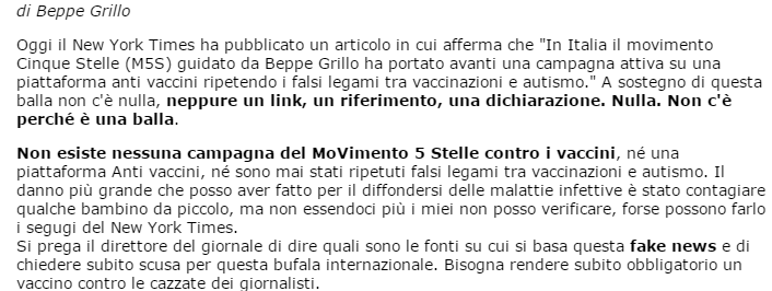 grillo new york times vaccini - 1