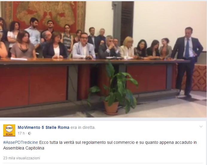 m5s tredicine regolamento commercio roma ambulanti - 2