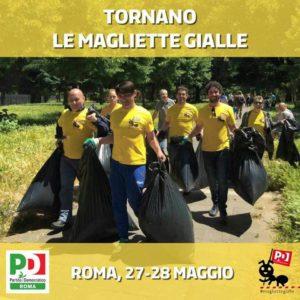 magliette gialle roma