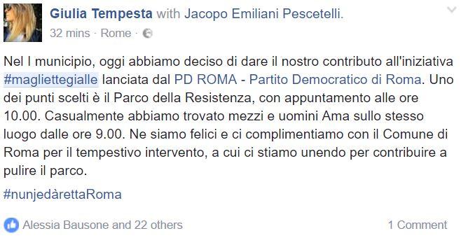 magliette gialle roma pd 7