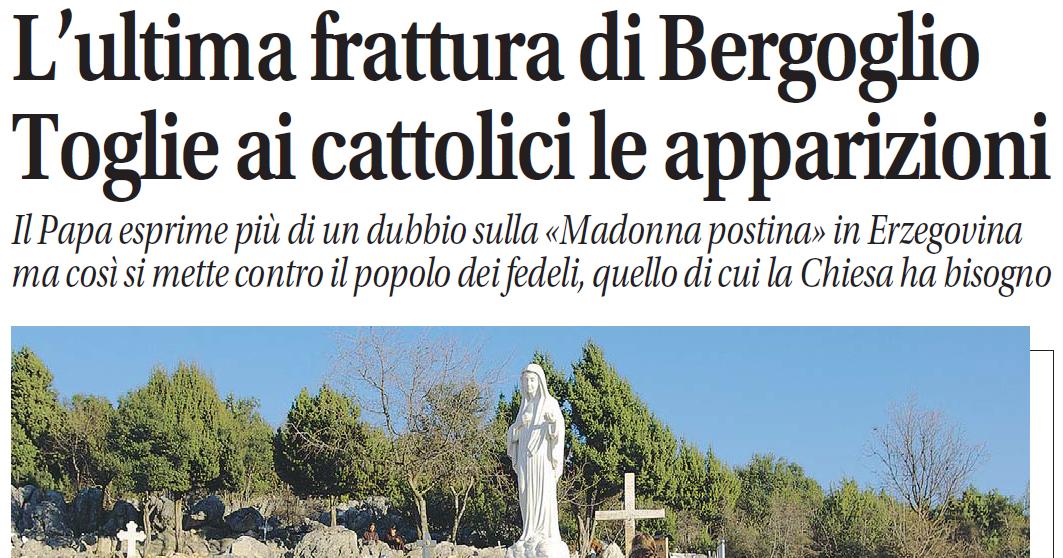 papa francesco medjugorje brosio socci celentano - 3