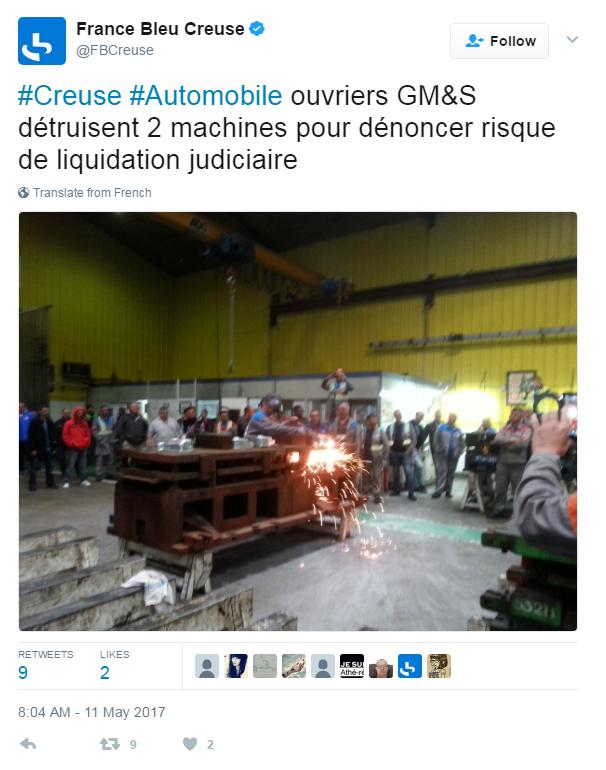 protesta operai creuse GM&S bombole gas - 2