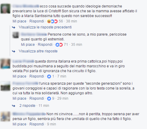 Valeria Collina Khadija madre terrorista londra italiano - 1