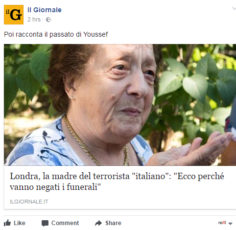 Valeria Collina Khadija madre terrorista londra italiano - 10