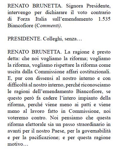 brunetta emendamento biancofiore legge elettorale m5s pd - 2