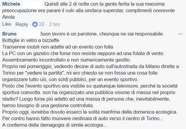 Torino, Airola (M5S): Sui feriti dati farlocchi. Poi si scusa