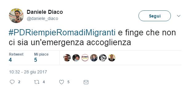 daniele diaco m5s migranti - 1