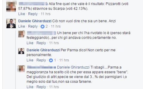 daniele ghirarduzzi parma pizzarotti sindaco 2017 -2