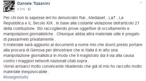daniele tizzanini m5s denunce rai giornalisti - 1