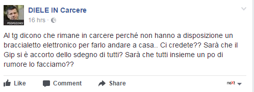 domenico diele facebook diele in carcere - 5
