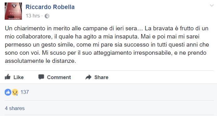 Torino, campane a festa per la sconfitta della Juve
