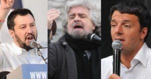 elezioni amministrative 2017 grillo renzi salvini