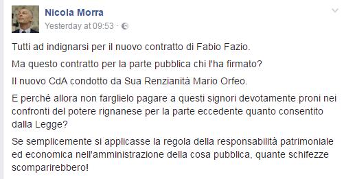 Fabio Fazio resta in Rai per lui un contratto stratosferico