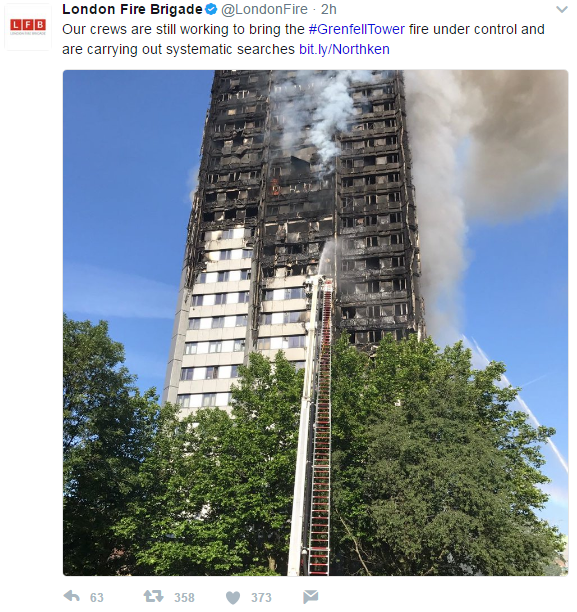 incendio grenfell tower londra - 1