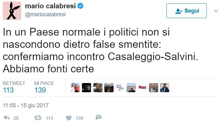 Incontro Casaleggio - Salvini: M5S smentisce