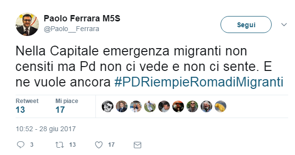 paolo ferrara m5s migranti - 1