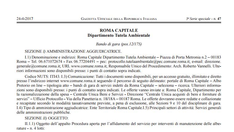 raggi bandi verde pubblico roma - 2